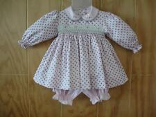 NWT Tutti Color Girl Pink Smocked Hand Embroidered Dress 6m 12m 18m 24m NEW