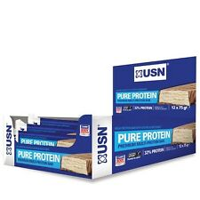 USN Pure Protein Bars 12 x 75g, 25g protein per bar