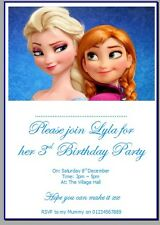 personalised photo paper card party invites invitations DISNEY FROZEN OLAF ELSA