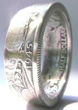 Coin Rings Made From 90 % Silver Walking Liberty Half Dollars Sizes 6 thru 14