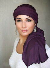 TURBAN DIVA Gorgeous TURBAN HEAD WRAP! *SOFTEST BRAND* Easiest to Tie, Chemo Hat