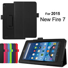 Magnetic Leather Folio Case Smart Cover Skin Stand Amazon Kindle Fire 7 Tablet