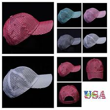 Plain Baseball Cap Fashion Hat Casual Mesh Hats Trucker Unisex Caps Snapback