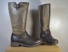 NIB UGGS UGG AUSTRALIA CHANCERY STOUT BROWN LEATHER BOOTS SIZE 8 1006679