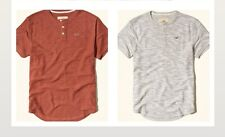 NWT Hollister  3 Button Henley T-Shirt Navy, Textured Orange or Gray M or L