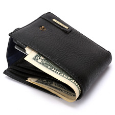 New Mens Leather Bifold Wallet Credit/ID Card Holder Slim Coin Purse