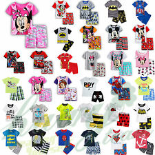 Summer Clothes Kids Baby Boys Girls T-shirt +Shorts Pant Outfits Clothes Sets