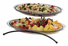 Tiered Buffet Server 2 Tier Platters Party Plates Food Dessert Serving Trays