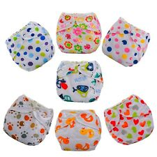 Lovely Baby Kids Breathable Diaper Cover Cloth Adjustable Reusable Nappy Wrap