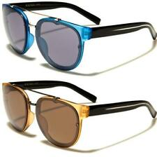 NEW SUNGLASSES MENS LADIES WOMENS DESIGNER BLACK ROUND AVIATOR RETRO VINTAGE