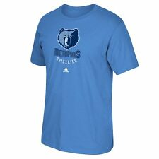 Memphis Grizzlies Adidas Primary Logo NBA Men T Shirt Blue