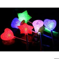 NEW! 3/1 Pcs LED Flashing Light-Up Stick Star Glow Rose Wand Party Concert Favor