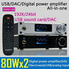DAC USB sound card 2x80w T*AMP amplifier Headphone Amp all-in-one 24BIT 192Khz