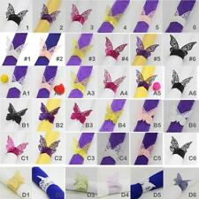MagiDeal 50x Butterfly Napkin Ring Serviette Buckles Party Banquet Tabeware Deco