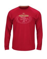 New San Francisco 49ers Majestic NFL Swift Pass Men's Cool Base L/S T Shirt Red