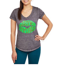 Rocker Girl St. Patricks Day Burnwash Tee S M L XL XXL 2XL Juniors Tshirt