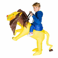 CHILDRENS INFLATABLE LION KIDS FANCY DRESS COSTUME SAFARI PARTY OUTFIT