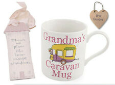 Mothers Day Pack for Grandma- Best Grandma Gift Tag, Bookmark & Caravan Mug