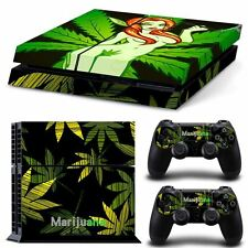 GREEN DESIGN PS4 SKIN VINYL DECAL BEAR SKIN STICKER FOR PLAYSTATION 4 PS4 + 2 CO