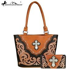 Montana West Handbag and Wallet Set  Western Tote purse Clutch
