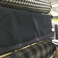 Textured Wool Navy Fabric
