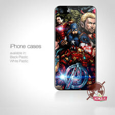 AVENGERS MARVEL COMIC GAL Logo Fit For iPhone Samsung iPod Case Cover Skin g4