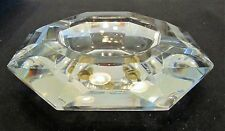 Val St Lambert Faceted Polished Crystal Ashtray Exc Condition