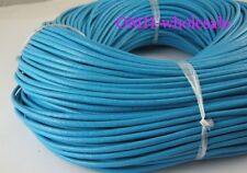100M blue Real Leather Thread Cord For Necklace Bracelet without clasps Strands