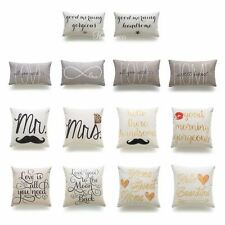 Decorative Throw and Lumbar Pillow Case His and Her Home Love Wedding Gift HEAVY