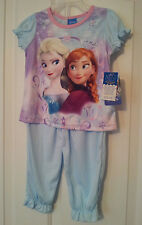NWT-Disney-Frozen-3T-4T-Anna-Elsa-Pajama-2-Piece-Set-Short-Sleeve-Top-Long-Pants