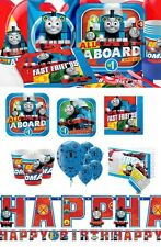 NEW Thomas The Tank Engine Birthday Party Supplies Tableware Favours Plates Cups