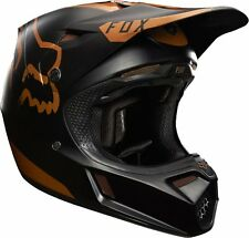 Fox 17 V3 COPPER MOTH LE HELMET Black Gold Motocross Off Road Dirt Bike Gear