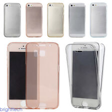 New Cell Phone Full Body Case Clear TPU Soft Protective Cover For Iphone 7 plus