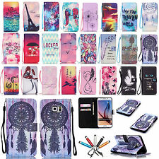 Luxury Card Holder Wallet Flip PU Leather Case Cover For iPhone Samsung LG