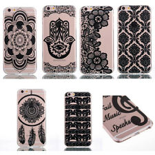 Fashion Ultra Thin Henna Pattern Soft TPU Case Cover For iPhone 7/7+ Samsung ud