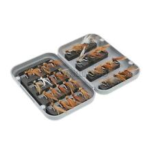 MagiDeal 40Pcs FISHING FLIES DRY FLY Fishing Lure with Waterproof Fly Box