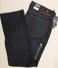 NWT ROCK & REPUBLIC Men's Jeans Neil STRAIGHT Rigid Denim 100% Cotton Blue 38x32