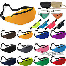 Bum Bag Fanny Pack Pouch Travel Sports Waist Belt Leather Holiday Money Wallet