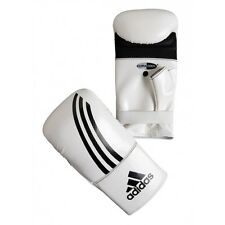 adidas Boxing Bag Gloves MMA Fitness Training Gloves Muay Thai Kickboxing-WH/BK