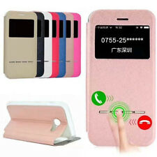 UK Smart Window View Flip PU Leather Case Cover For Samsung 2017 Mobile Phones