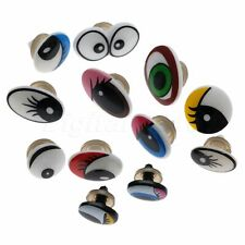 Plastic Cartoon Eyes For Kid Toy Teddy Bear Doll Puppet Sawing Use with Washers