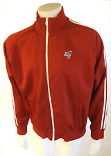 Abercrombie & Fitch XL Poly/Cotton Blend Muscle Dark Red Mens Sport Jacket