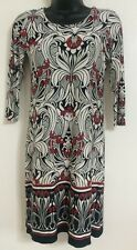 Ex WALLIS Size 8-20 Red White Paisley Print Border Hem Tunic Shift Body Dress