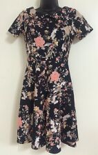 NEW Ex Dorothy Perkins Floral Print Collar Fit and Flare Skater Dress Size 8-20
