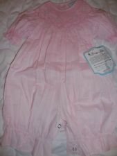 nwt Remember Nguyen pink smocked bunny bubble romper baby girl 3 m, 12 m