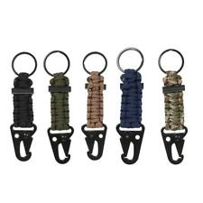 MagiDeal Paracord Survival Lanyard Keychain Kit Flint Lighter with Snap Hook