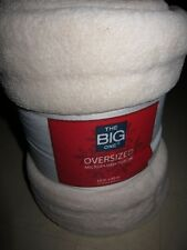 "The Big One Oversized Microplush Throw Blanket Beige Sz 60""x80"" - NWT $40"