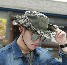 Outdoor Men Hunting Hat Military Army Cap Boonie Fishing Wide Brim Bucket Unisex