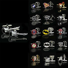 Men Shirt Square DC Marvel Groom Super Hero Cuff Links For Nice Gift 2017