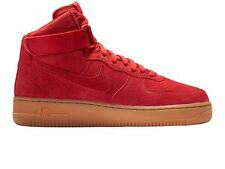 NIKE WOMENS AIR FORCE 1 HI SUEDE RED ALL TRIPLE SIZE 4 37.5 HIGH TOPS MID GIRLS